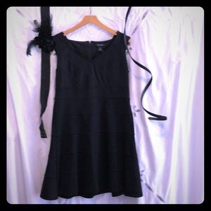 WHBM dress 14 black EUC